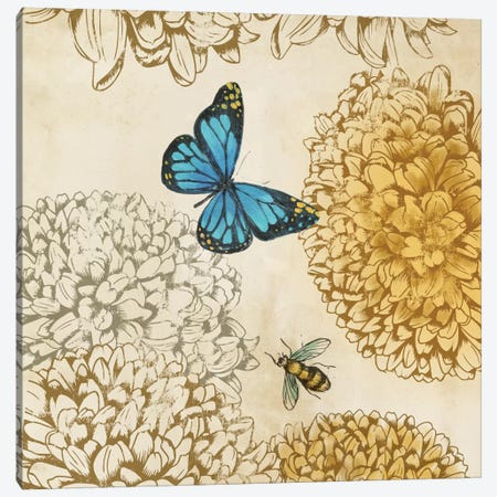 Butterfly In Flight II Canvas Print #PST144} by PI Studio Canvas Artwork