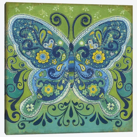 Butterfly Mosaic Canvas Print #PST146} by PI Studio Canvas Art