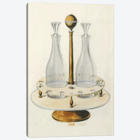 Carafe VI Canvas Print #PST155} by PI Studio Canvas Print