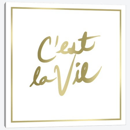 Cést la Vie Border Canvas Print #PST159} by PI Studio Canvas Art