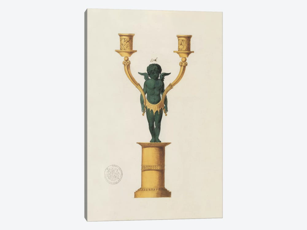 Cherub Candelabra by PI Studio 1-piece Canvas Artwork