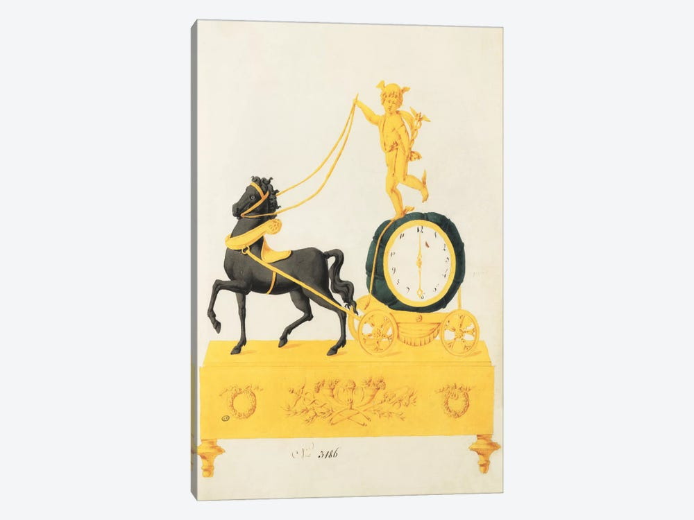Cherub Clock by PI Studio 1-piece Art Print