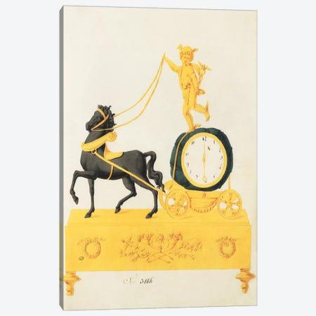 Cherub Clock Canvas Print #PST162} by PI Studio Canvas Print