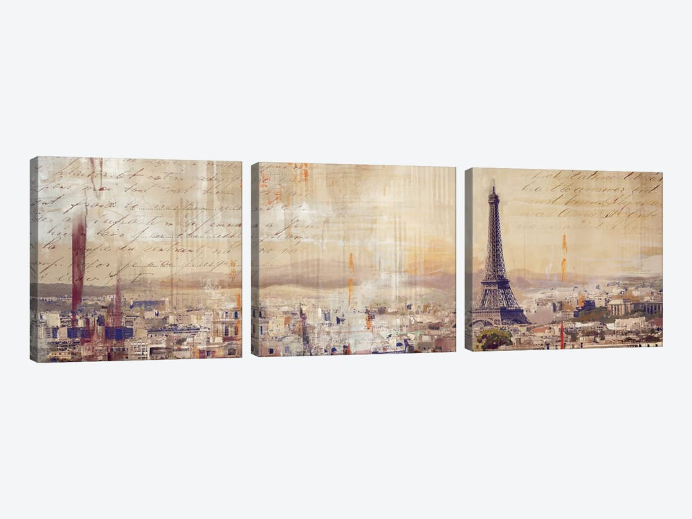 City Of Light by PI Studio 3-piece Canvas Artwork