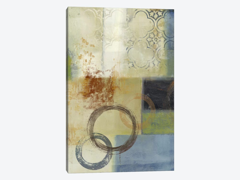 Composition In Blue II 1-piece Canvas Art