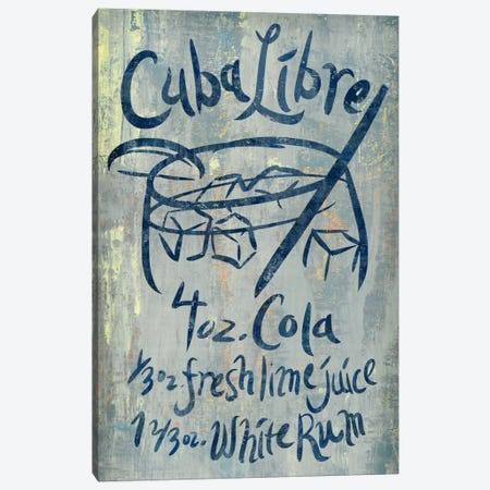 Cuba Libre Blue Canvas Print #PST198} by PI Studio Canvas Art
