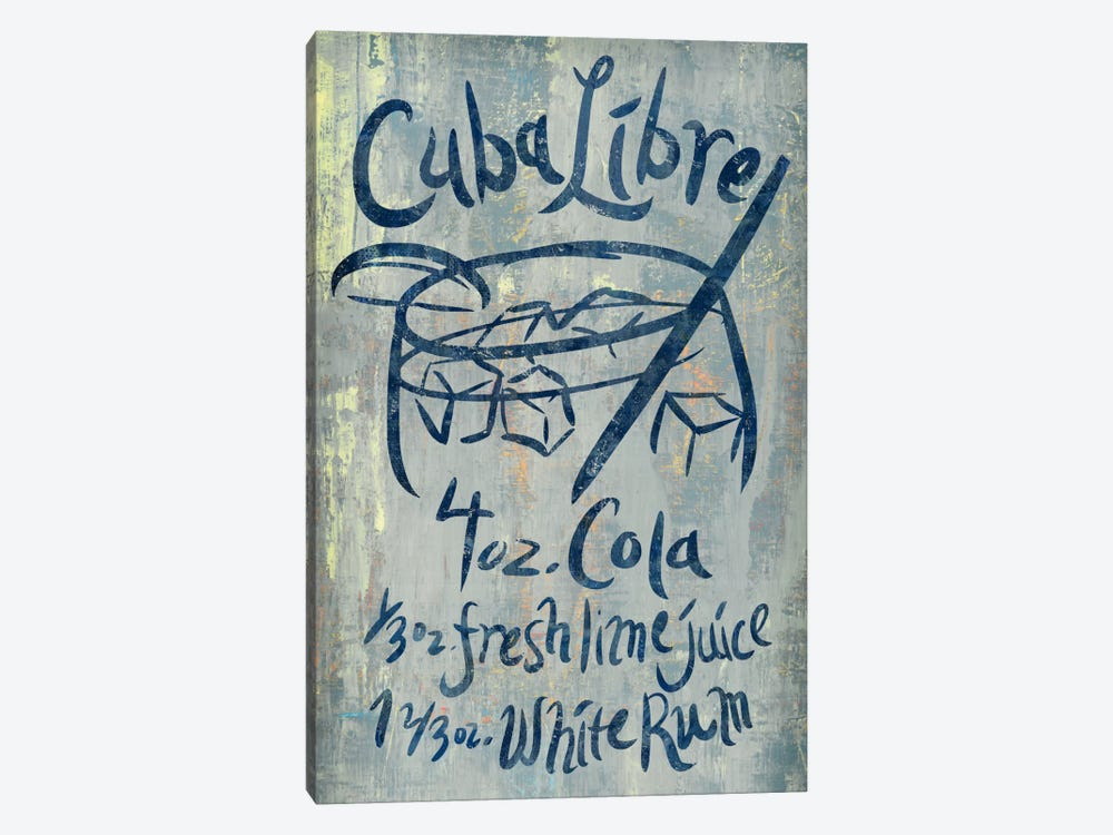 Cuba Libre Blue by PI Studio 1-piece Canvas Wall Art