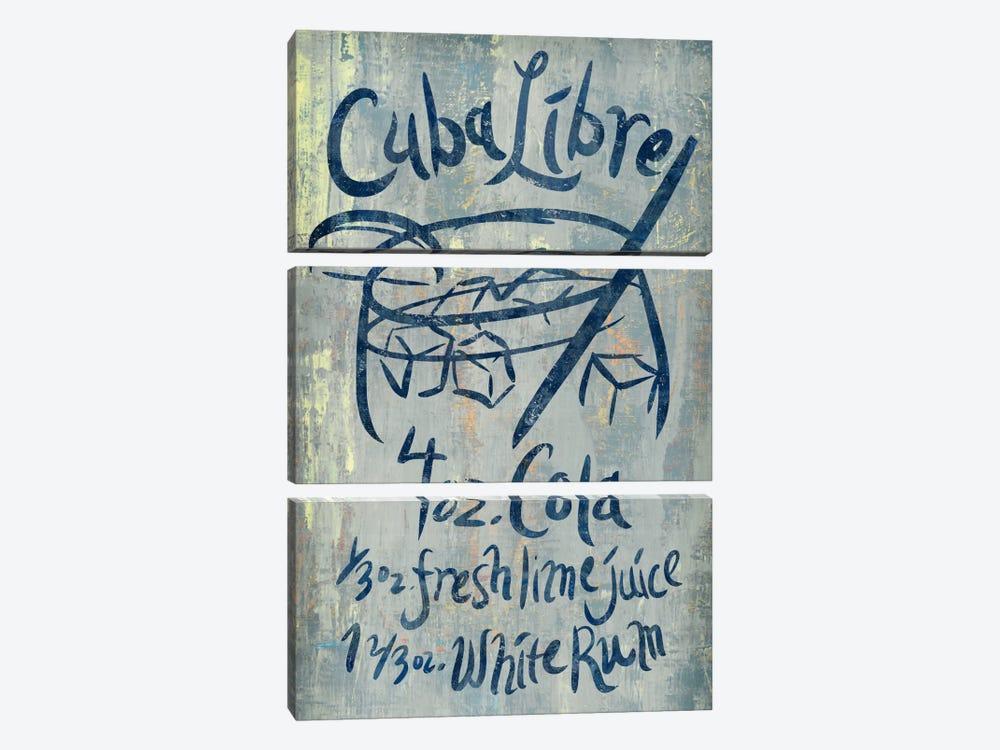 Cuba Libre Blue by PI Studio 3-piece Canvas Artwork