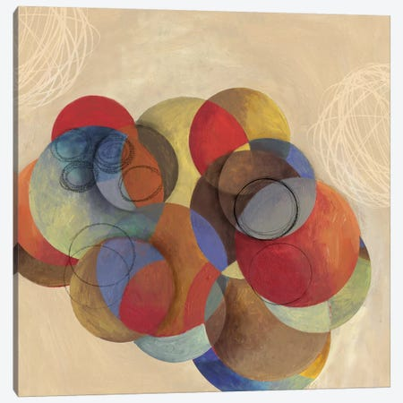 Cubist Circles Canvas Print #PST200} by PI Studio Canvas Art