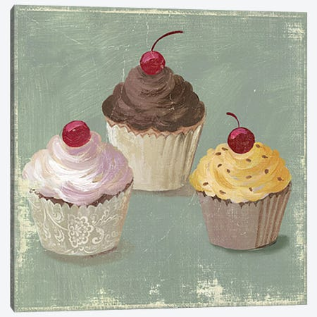 Cupcakes Canvas Print #PST202} by PI Studio Canvas Artwork