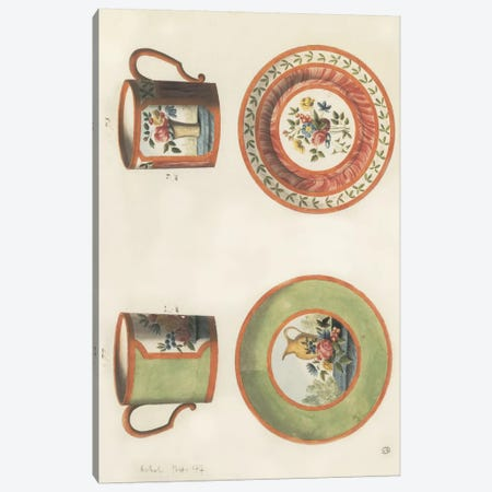 Cups & Saucers Canvas Print #PST203} by PI Studio Canvas Wall Art