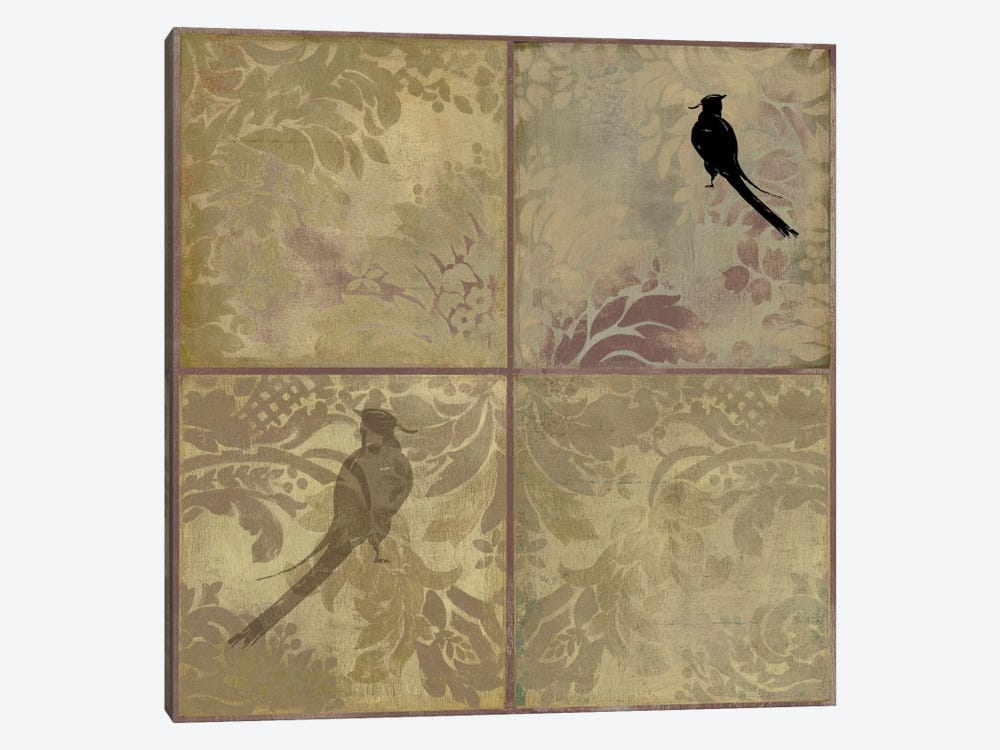Damask Birds by PI Studio 1-piece Canvas Wall Art