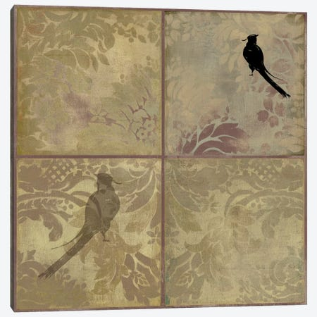 Damask Birds Canvas Print #PST205} by PI Studio Art Print