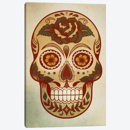 Day Of The Dead Skull I Canvas Print #PST207} by PI Studio Canvas Print