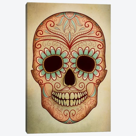 Day Of The Dead Skull II Canvas Print #PST208} by PI Studio Canvas Art