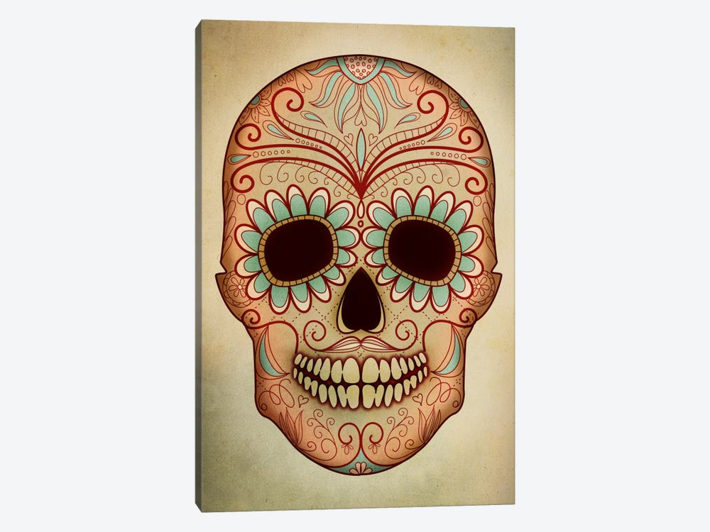 Day Of The Dead Skull II by PI Studio 1-piece Canvas Print