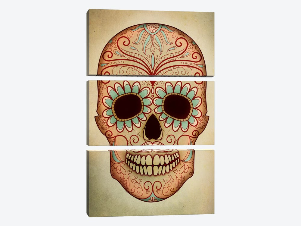 Day Of The Dead Skull II by PI Studio 3-piece Canvas Art Print