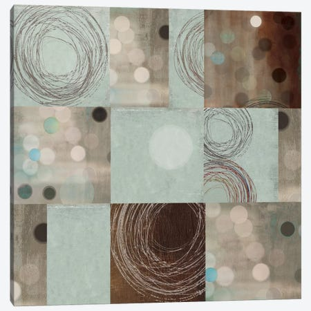 Dots And Swirls Canvas Print #PST217} by PI Studio Canvas Wall Art