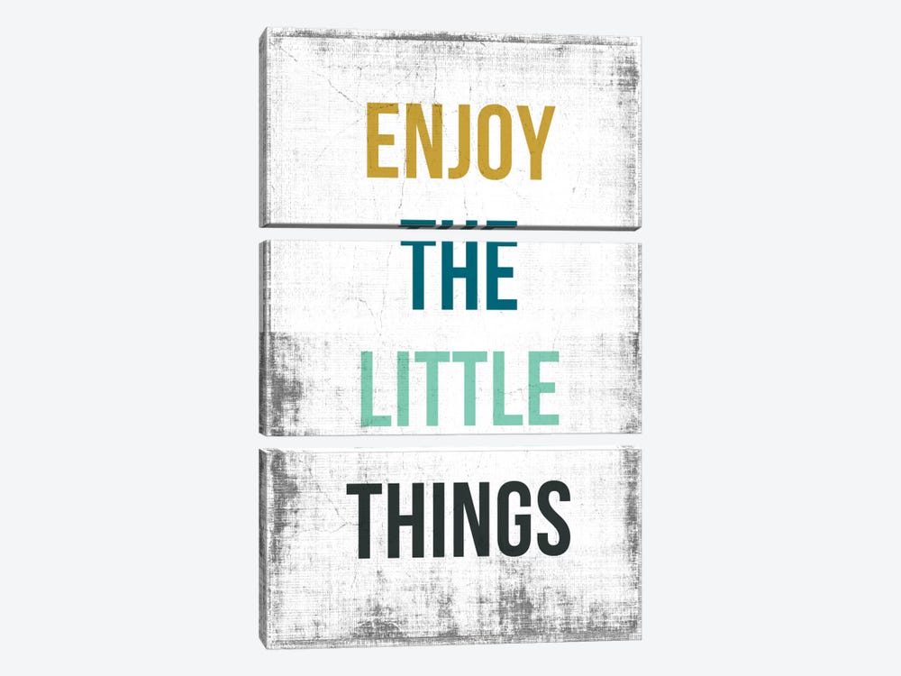 Enjoy The Little Things by PI Studio 3-piece Canvas Art Print