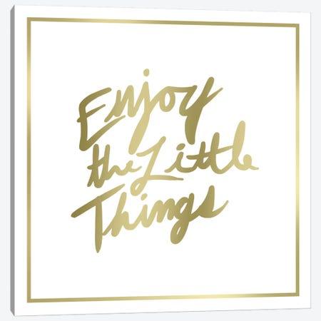 Enjoy The Little Things Border Canvas Print #PST236} by PI Studio Canvas Artwork