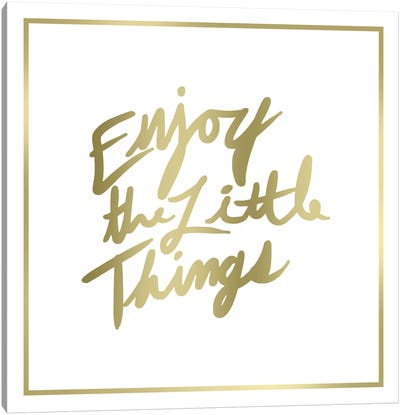 Enjoy The Little Things Border Canvas Art Print