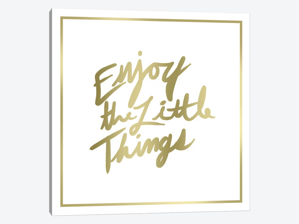 Enjoy The Little Things Border by PI Studio 1-piece Canvas Wall Art