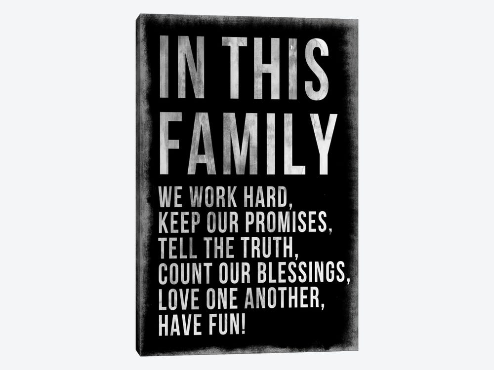 Family Rules Chalkboard by PI Studio 1-piece Art Print