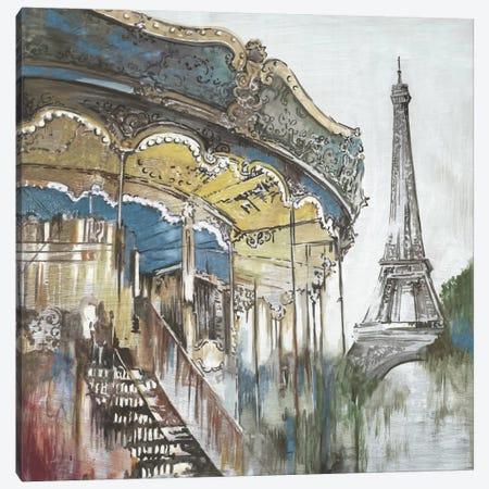 Ferris Wheel Canvas Print #PST255} by PI Studio Canvas Wall Art