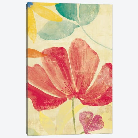 Field Floral II Canvas Print #PST257} by PI Studio Canvas Art