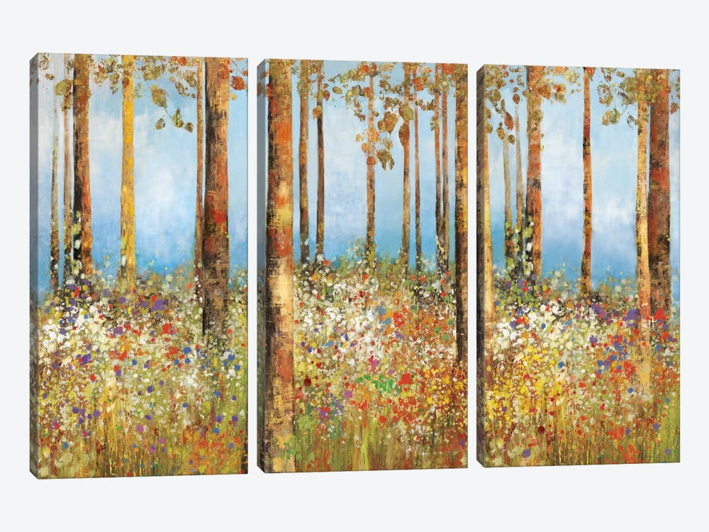 Field Of Flowers by PI Studio 3-piece Canvas Art Print