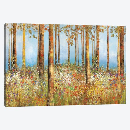 Field Of Flowers 3-Piece Canvas #PST259} by PI Studio Canvas Print