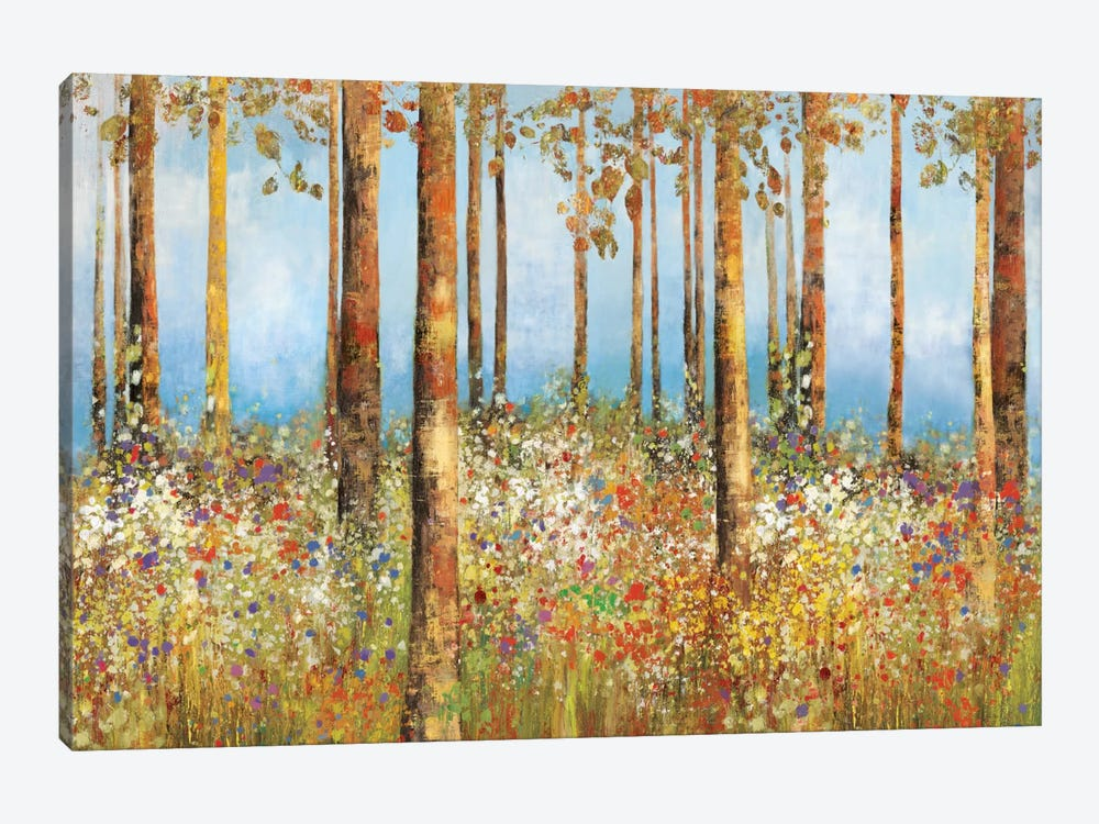 Field Of Flowers by PI Studio 1-piece Canvas Art Print