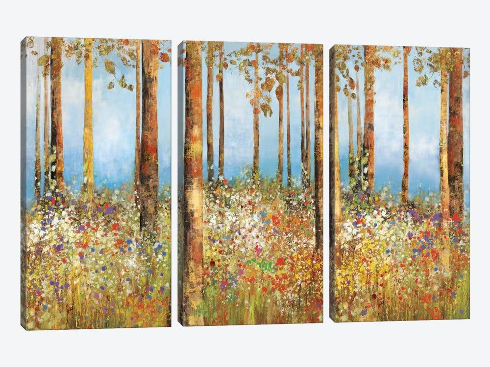 Field Of Flowers by PI Studio 3-piece Canvas Art Print