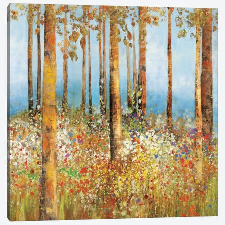 Field Of Flowers I, Square Canvas Print #PST260} by PI Studio Canvas Art
