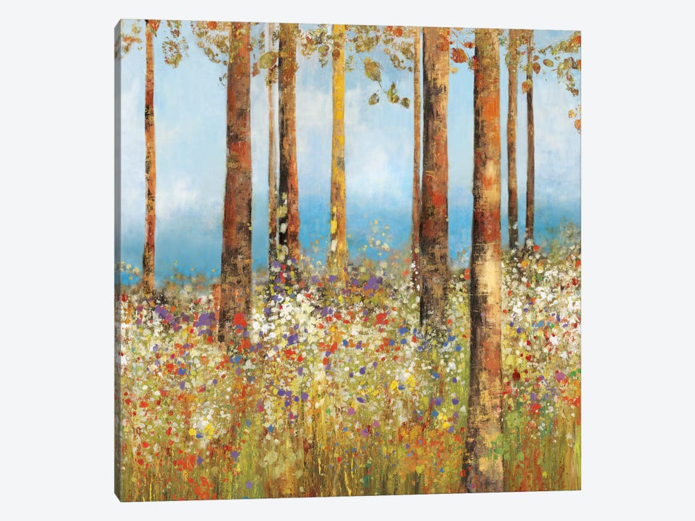 Field Of Flowers II, Square by PI Studio 1-piece Canvas Art