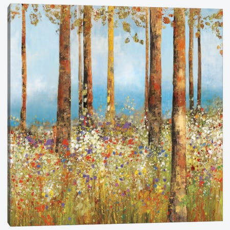 Field Of Flowers II, Square Canvas Print #PST261} by PI Studio Canvas Wall Art