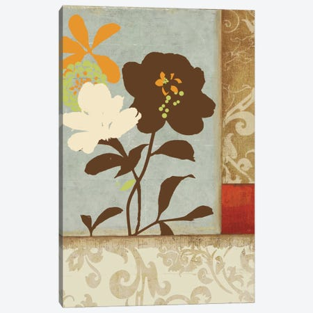 Floral Damask I Canvas Print #PST268} by PI Studio Canvas Art