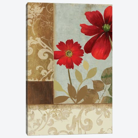 Floral Damask II Canvas Print #PST269} by PI Studio Canvas Wall Art