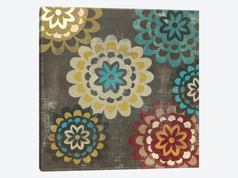 Floral Pattern II by PI Studio 1-piece Canvas Print