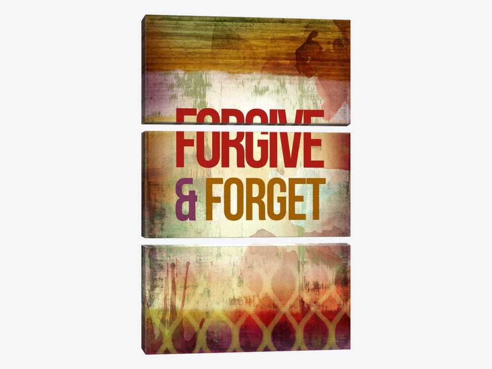 Forgive & Forget by PI Studio 3-piece Canvas Artwork