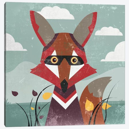 Fox Canvas Print #PST275} by PI Studio Canvas Artwork