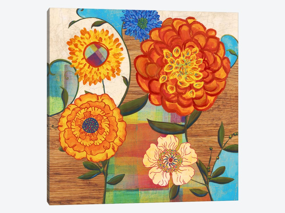 Funky Flowers by PI Studio 1-piece Canvas Artwork