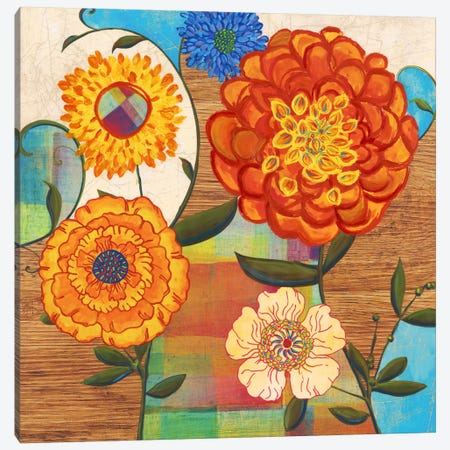 Funky Flowers Canvas Print #PST283} by PI Studio Canvas Wall Art