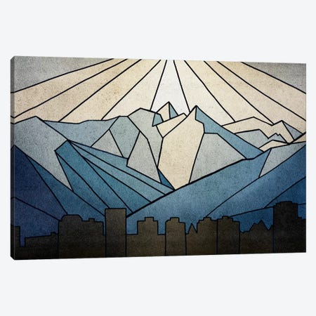 Geometric Mountain Canvas Print #PST290} by PI Studio Canvas Print