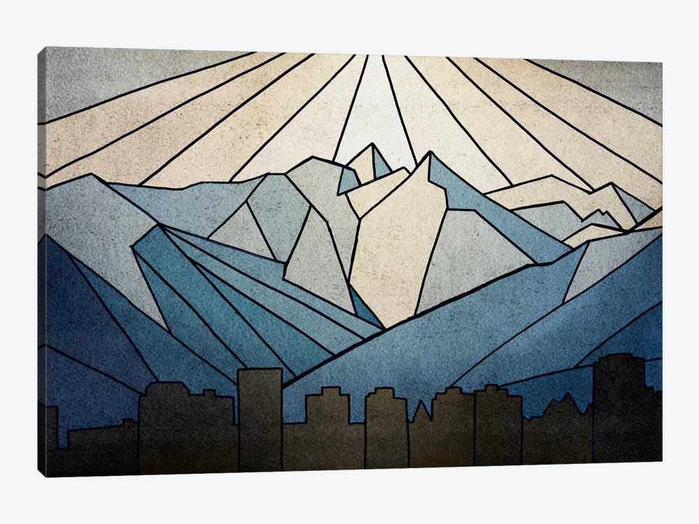 Geometric Mountain 1-piece Canvas Art
