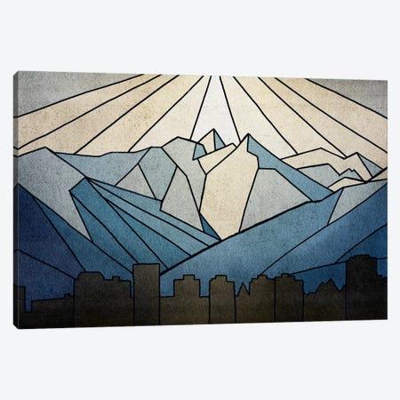 Geometric Mountain Canvas Print #PST290} by PI Studio Canvas Print