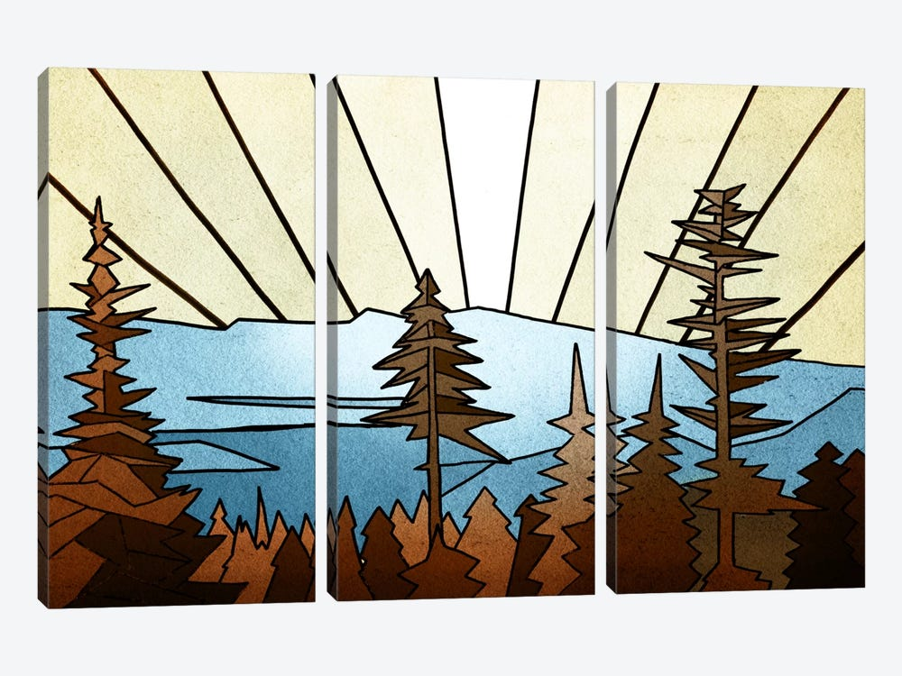 Geometric Trees by PI Studio 3-piece Canvas Art Print