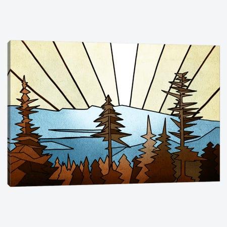 Geometric Trees 3-Piece Canvas #PST291} by PI Studio Canvas Print