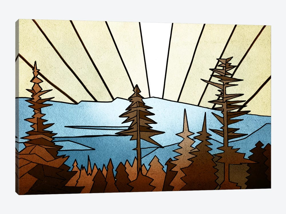 Geometric Trees by PI Studio 1-piece Art Print