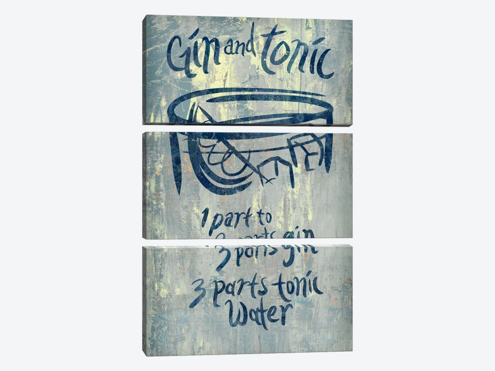 Gin And Tonic Blue by PI Studio 3-piece Canvas Art